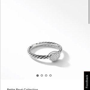 David Yurman Petite Pave Oval Ring
